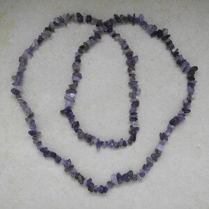 Amethyst Splitterkette endlos 86 - 90 cm